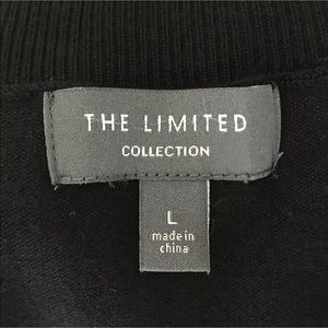 The Limited Sweaters - The Limited Large Mock Neck Top Sweater Black Tier